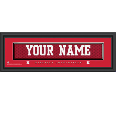 Nebraska Huskers Personalized Jersey Stitch Print