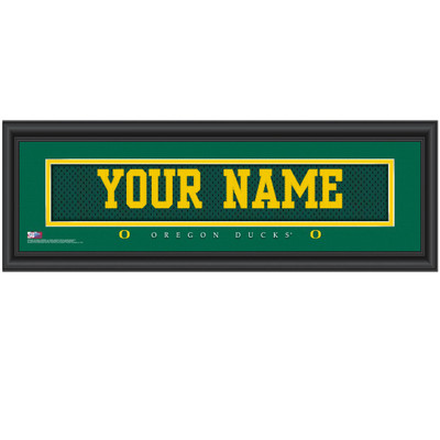 Oregon Ducks Personalized Jersey Stitch Print