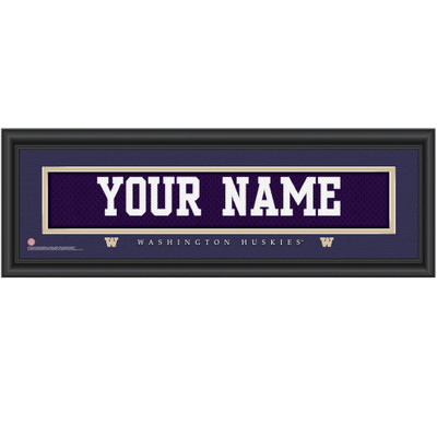 Washington Huskies Personalized Jersey Stitch Print | Get Letter Art | WASHJERS