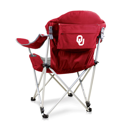 Oklahoma Sooners Reclining Camp Chair