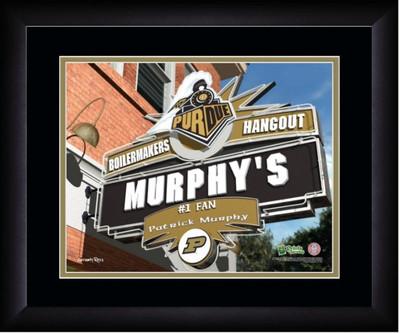 Purdue Boilermakers Personalized Pub Print | Get Letter Art | PSH13FBBCFPURD