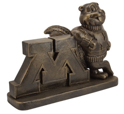 Minnesota Golden Gophers Vintage Mascot Garden Statue