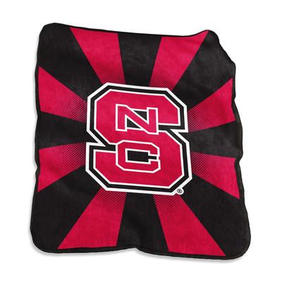 NC State Wolfpack Raschel Throw Blanket
