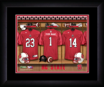 NC State Wolfpack Personalized Locker Room Print