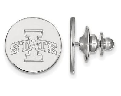 Iowa State University Logo Sterling Silver Lapel Pin