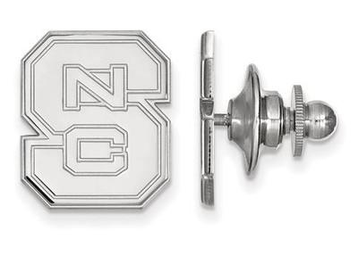 NC State University Logo Sterling Silver Lapel Pin