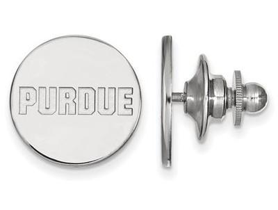Purdue University Logo Sterling Silver Lapel Pin