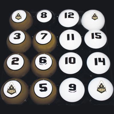 Purdue Boilermakers Billiard Pool Ball Set