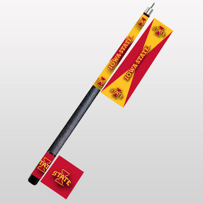 Iowa State Cyclones Pool Cue | Hood Leather | 1960-ISU