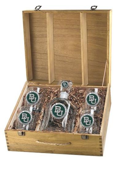Baylor Bears Decanter Boxed Set