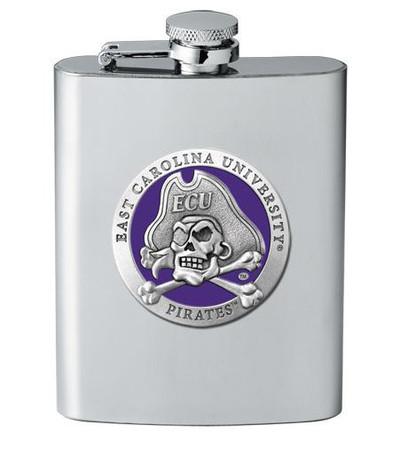 East Carolina Pirates Flask