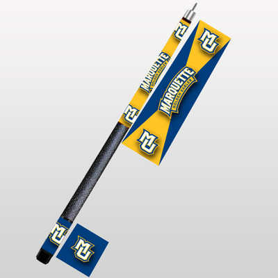 Marquette Golden Eagles Pool Cue | Hood Leather | 1960-MRQ
