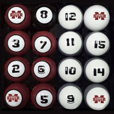 Mississippi State Bulldogs Billiard Pool Ball Set