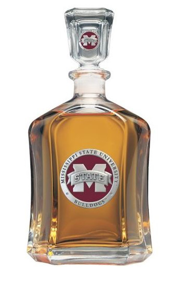 """Mississippi State Bulldogs Capitol Decanter - """"M"""" Logo"""