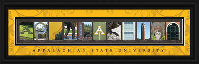 Appalachian State Mountaineers Campus Letter Art Print