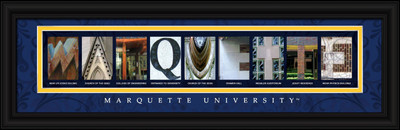 Marquette Golden Eagles Letter Art | Get Letter Art | CLAL1B22MARQ