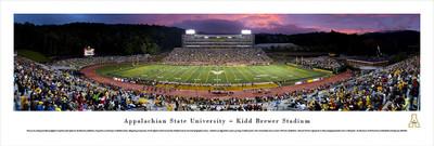Appalachian State Mountaineers Panoramic Photo Print - Twilight