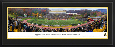 Appalachian State Mountaineers Panoramic Photo Deluxe Matted Frame - 50 Yard Line