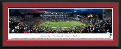 Cincinnati Bearcats Panoramic Photo Deluxe Matted Frame