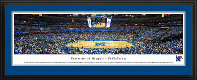 Memphis Tigers Panoramic Photo Deluxe Matted Frame