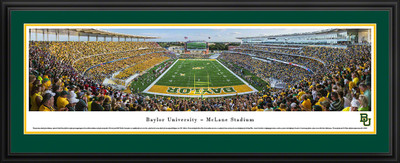 Baylor Bears Panoramic Photo Deluxe Matted Frame