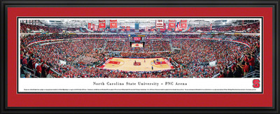 NC State Wolfpack Panoramic Photo Deluxe Matted Frame - Basketball