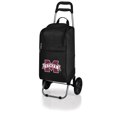 Mississippi St. Bulldogs Rolling Cart Cooler | Picnic Time | 545-00-175-384-0
