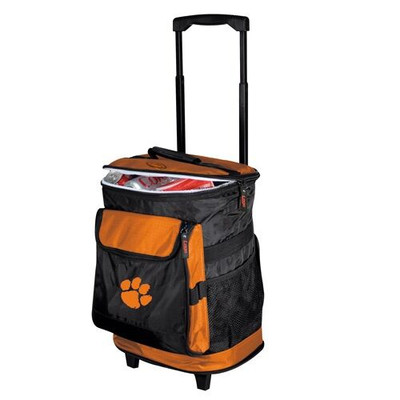 Clemson Tigers Rolling Cooler | Logo Chair | 123-57