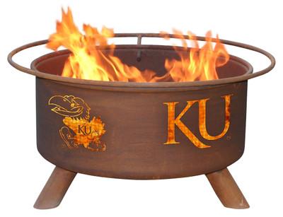 Kansas Jayhawks Portable Fire Pit Grill