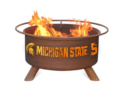 MSU Spartans Portable Fire Pit Grill