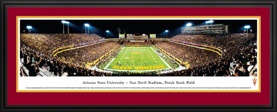 Arizona State Sun Devils Panoramic Photo Deluxe Matted Frame - End Zone | Blakeway | ASU2D