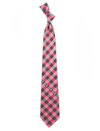 Cincinnati Bearcats Woven Poly Check Tie
