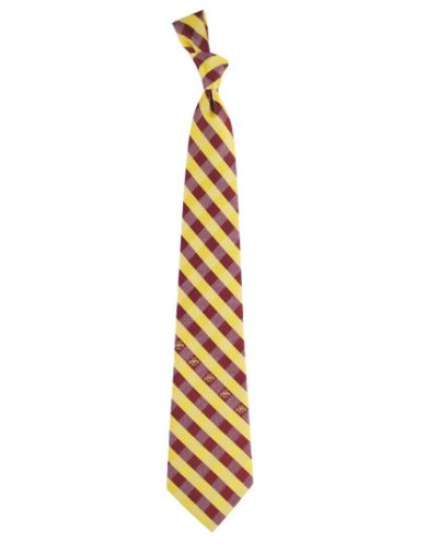 Iowa State Cyclones Woven Poly Check Tie | Eagles Wings | 5158