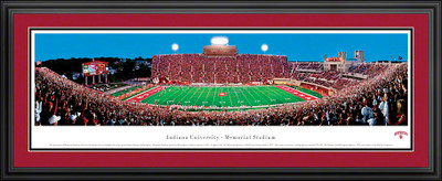 Indiana Hoosiers Panoramic Photo Deluxe Matted Frame - 50 Yard Line