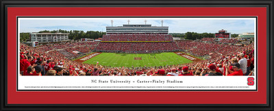 NC State Wolfpack Panoramic Photo Deluxe Matted Frame - 50 Yard Line