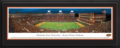 Oklahoma State Cowboys Panoramic Photo Deluxe Matted Frame - 50 Yard Line