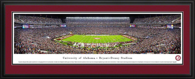 Alabama Crimson Tide Panoramic Photo Deluxe Matted Frame - 50 Yard Line