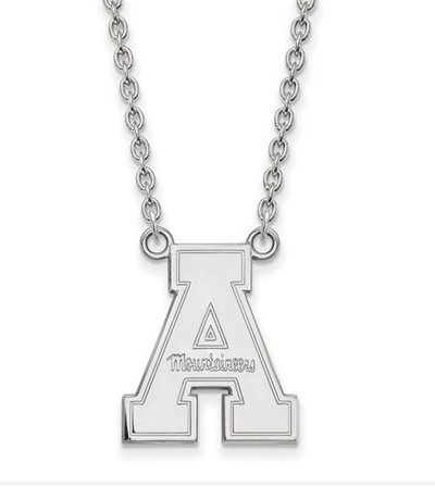 Appalachian State Mountaineers Sterling Silver Pendant Necklace