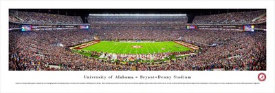 Alabama Crimson Tide Panoramic Photo Print - 50 Yard Line   Blakeway   UAL4