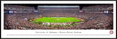 Alabama Crimson Tide Standard Frame Panoramic Photo - 50 Yard Line   Blakeway   UAL4F