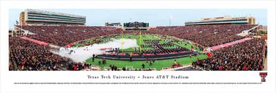 Texas Tech Red Raiders Panoramic Photo Print - 50 Yard Line   Blakeway   TXT2