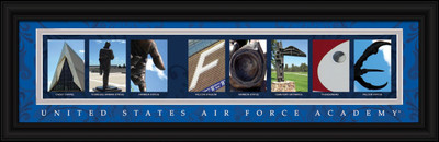 Air Force Academy Campus Letter Art Print | Get Letter Art | CLAL1B22USAF