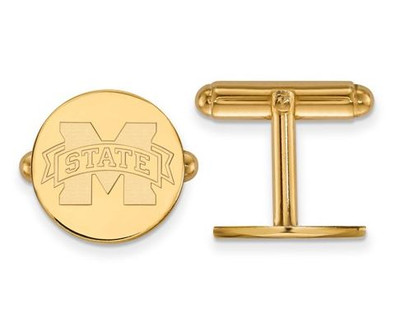 Mississippi State University Sterling Silver Gold Plated Cuff Links