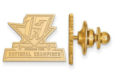 2017 National Champions Alabama Crimson Tide Sterling Silver Gold Plated Crest Lapel Pin