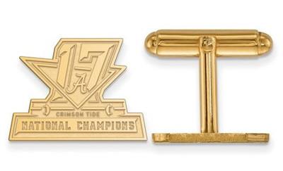2017 National Champions Alabama Crimson Tide Sterling Silver Gold Plated Crest Cufflinks