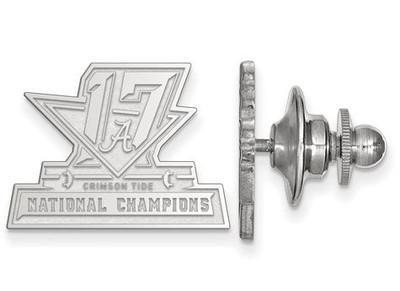 2017 National Champions Alabama Crimson Tide Sterling Silver Lapel Pin   Logo Art   SS006CFA17