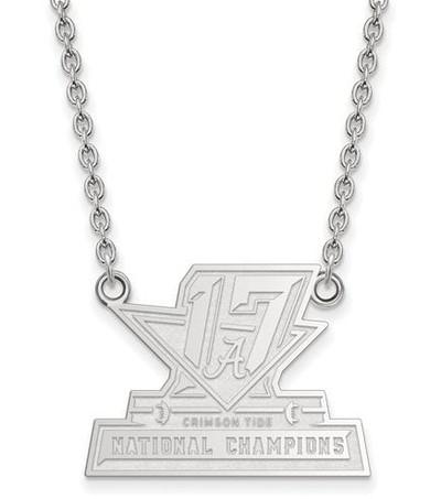 2017 National Champions Alabama Crimson Tide Sterling Silver LG Pendant Necklace