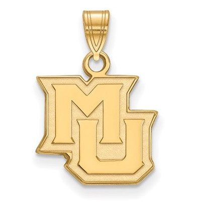 Marquette University Sterling Silver Gold Plated Small Pendant | Logo Art | GP015MAR