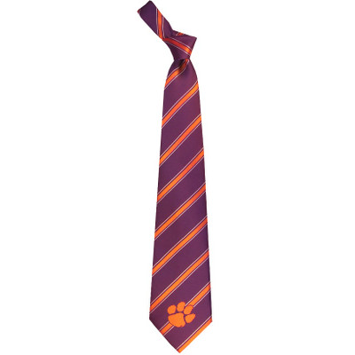 Clemson Tigers Woven Poly Tie