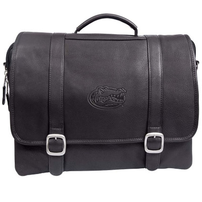 Florida Gators Cross Body Leather Laptop Briefcase